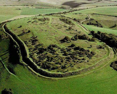 Aerial photo of Cissbury Ring