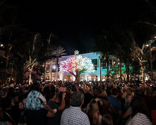 The Wishing Tree at the reopening of the square and holiday kickoff, November 30, 2019