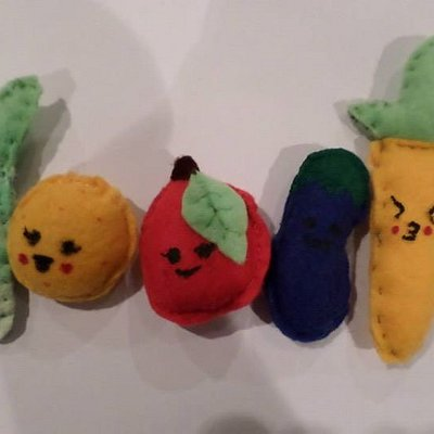 Needle-felted characters by 12 year old student.
