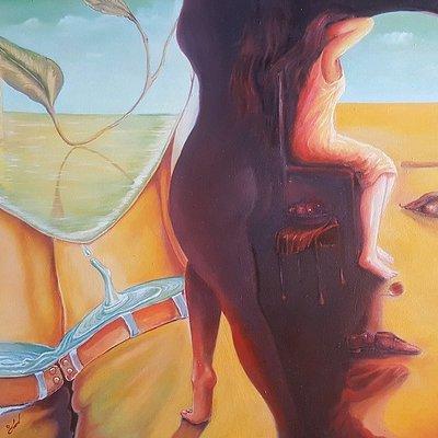 """Dream flood oil on canvas 24""""x30"""""""