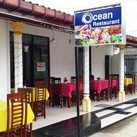 Front View of Ocean Restaurant, Kalutara South, Sri Lanka.