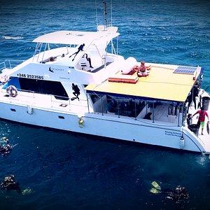 Our catamaran the Twinspirirt
