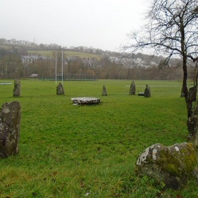 Dolgellau Stone Circle in the rain!