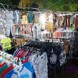 Night market stalls.