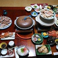 松葉ガニが美味しくいただけます。