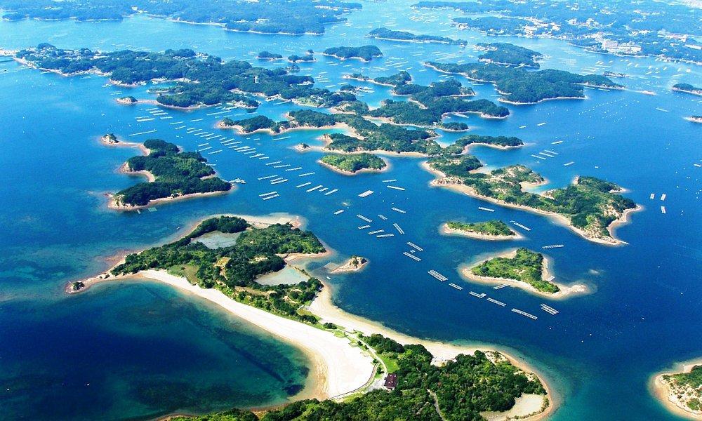 美しい島々!カヤックツアーコース全景