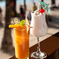 Cocktails with a view of Boracay's famous White Beach