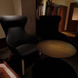 劇場型座席のセカンドフロアはペアシート。自動演奏のピアノを聴きながら究極にくつろいでいただけます。