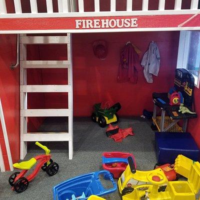 pretend firehouse play area