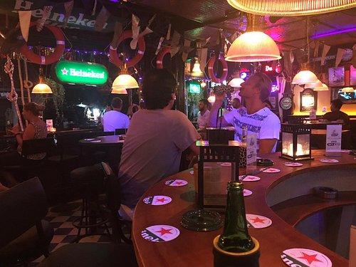Cold Heineken at the bar