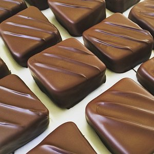 hand dipped Turkish delight squares