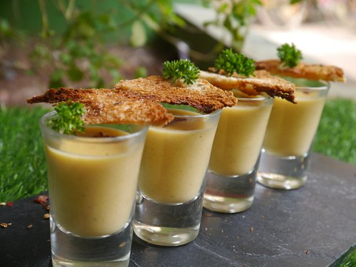 Celery and Carrot Soup Shots