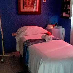 One of the 2 air-conditioned treatment rooms