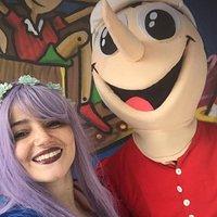 La Fata Turchina con Pinocchio mascotte