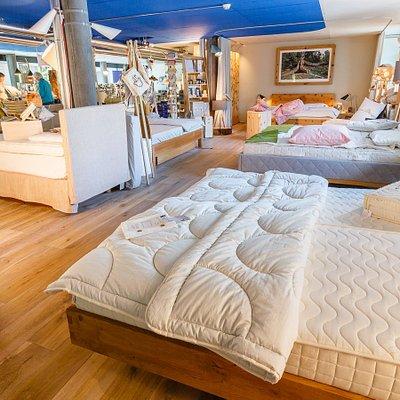 Grosse Auswahl an verschiedenen Bettsystemen
