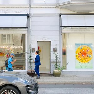 Thierry Feuz Exhibition - View from the street