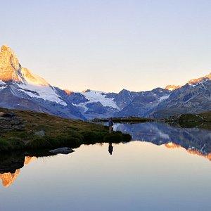 stunning sunrise fly fishing in Switzerland