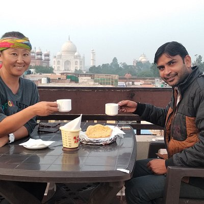 rooftop with chinese guest