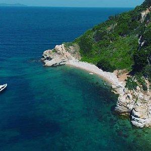 Drone shot of the Reef Seeker Pattaya far islands.