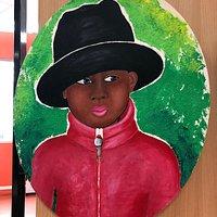 Oeuvre «Petite Fille au Chapeau Noir» d'Aline Howard Maurice à la Médiathèque Elsa Triolet de Garges-lès-Gonesse
