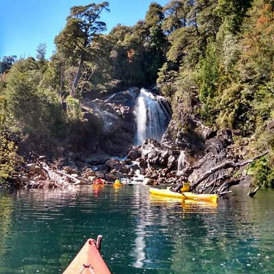 Kayaking in the Lago Chapo, Chile