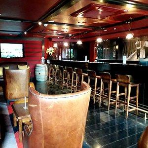 Beautiful interior of the tasting room for Three Miners Vineyard