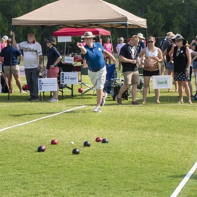 The annual Backyard Bocce Bash, run by Sandhills Children Center is hosted at the NAV.
