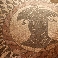 A section of Roman tile mosaic floor