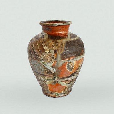 自然釉 三筋壺