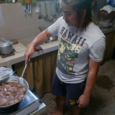 Private cooking class in Nagcarlan with Rex