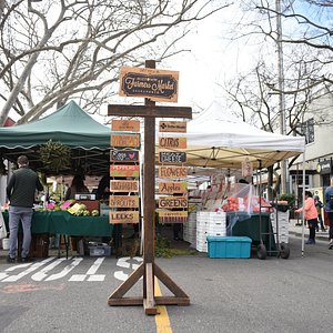 The awesome market sign is a place for many instagrammable moments for market visitors!