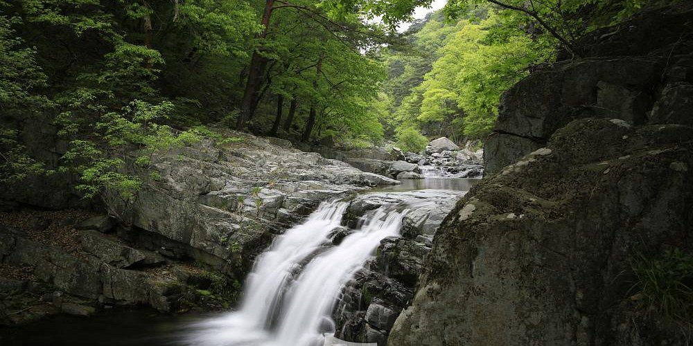 Cheonghagol, which flows along the stem of the inner mountain to the East Sea, is a scenic spot corresponding to Gyeongbuk Three Views. In the Naejang Mountain Gapcheon Valley, which is called Kumgang Mountain in Gyeongbuk, there are 12 waterfalls with 7 ~ 30m height, including Win-Win width, Gwaneum width, and Arithmetic width. The abyss of Chuck Yongdam, rock caves, and rock formations are magnificent scenic spots.