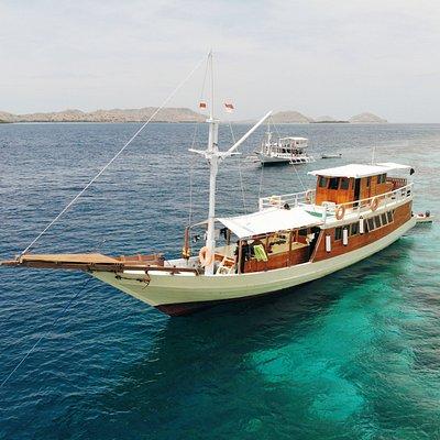 Segara Liveaboard, our new vessel at Taka Makassar