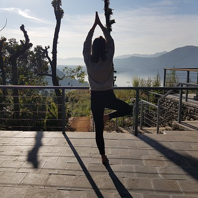 Yoga lesson at Hidden Paradise Guest house.