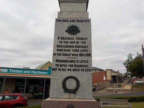 Great War dedication