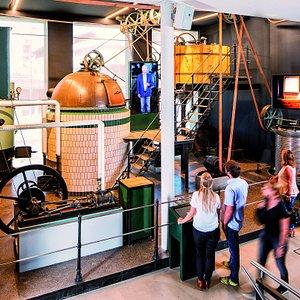 Historische Brauanlage in der Biererlebniswelt