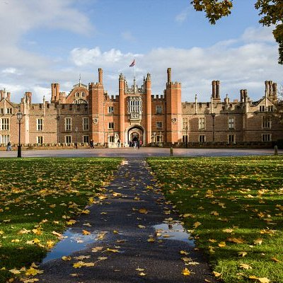 The West Front Entrance of Hampton Court Palace