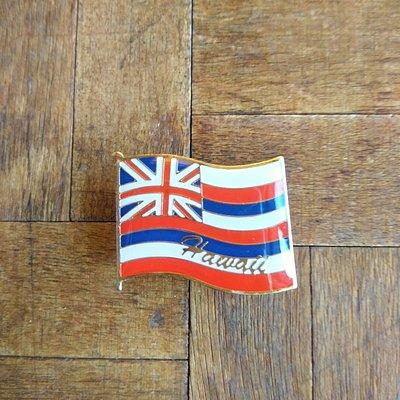 ハワイ州の旗のピンバッジ