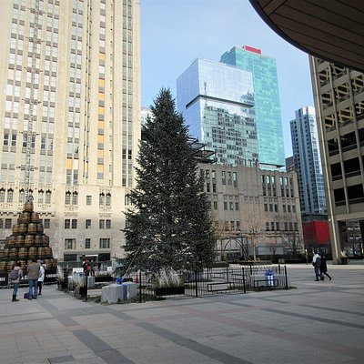 Pioneer Court: Decorated for Holidays, December 2019, Chicago