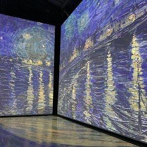 2 des murs utilisés pour la projection