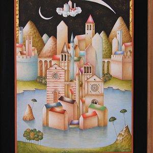 """"""" La città ideale"""" -Litografia su carta cm. 50x70"""