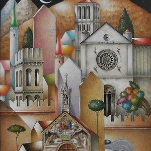 """""""Assisi- Litografia su carta"""
