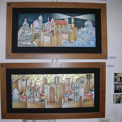 Due dipinti di Paolo Grimaldi