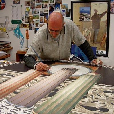 Paolo Grimaldi al lavoro