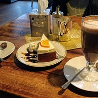 Hot chocolate and cake just what you need on a cold December day.