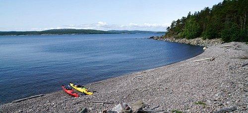 Kayaking in Höga Kusten