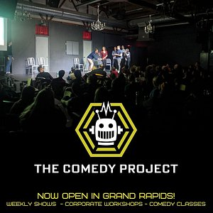 The Comedy Project is a sketch and improv comedy theater surrounded by a distillery, a brewery, a hard cidery, a bbq place and a taco bell. It's basically a utopia.