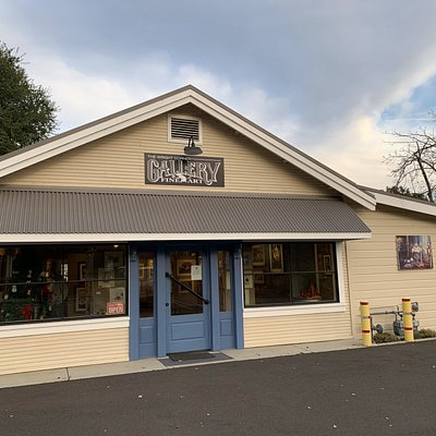 Gallery is on the corner in an old general store date from 1890's.  It is a one of a kind experience.