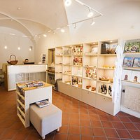 A colorful selection of gifts are waiting to be discovered at the Ptuj tourist information centre.