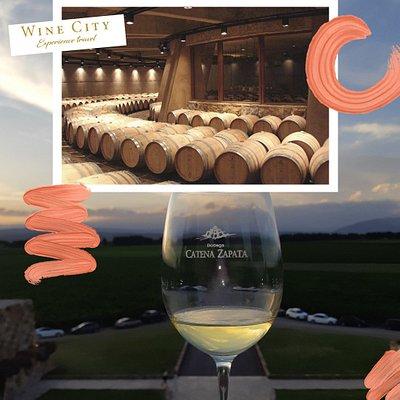 Disfrutando de un excelente Chardonnay de Catena Zapata